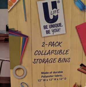 U Life Storage & Organization - NWT Set of 2 Collapsible Bins